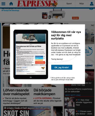 ElasticSearch, expressen ipad, node.js, RabbitMQ, tablet Android, Episerver, iPad, Nyheter
