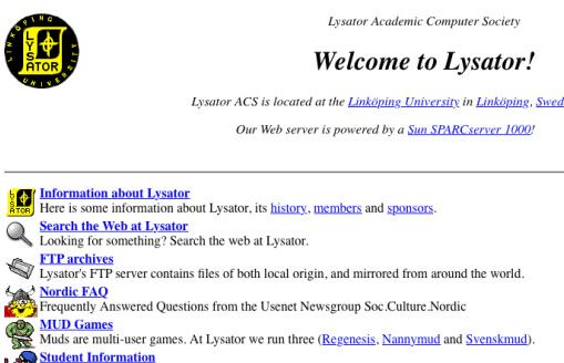 lysator first website sweden