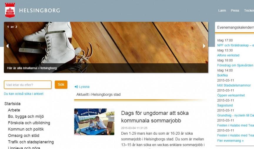 Björn Westerlund, episerver 7, helsingborg kommun, Helsingborg.se, Joakim Jardenberg, Wordpress Episerver, Nyheter, Offentlig sektor, Wordpress