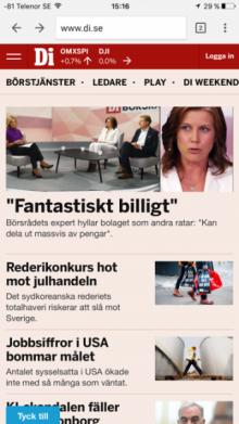 bonnier, dagens industri, di.se, episerver Episerver, Nyheter