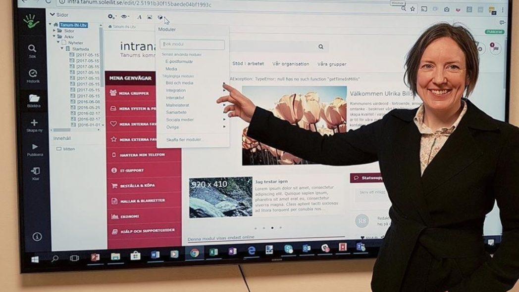 Intranät, SiteVision, Tanums Kommun Intranät, Nyheter, Offentlig sektor, SiteVision