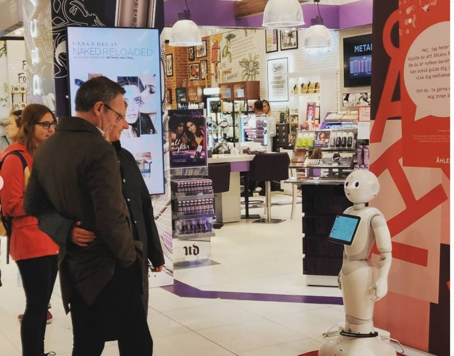 Åhlens, Digital Edge, pepper, SoftBank Robotics CXM, Lojalitetsprogram, Nyheter, Online Marketing
