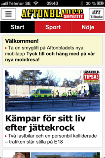 aftonbladet mobil app android Linköping