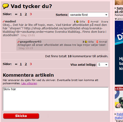 aftonbladet, kommentarer, xcap Chatbots, Community, Facebook Pages, Nyheter, XCAP