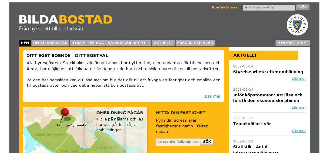 bilda bostad, cybercom, EPiServer 7.5, ntech, stockholm stadshus Episerver, Nyheter