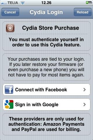cydia facebook