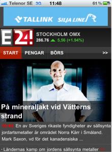 E24, mobil.e24.se, Schibsted Escenic, Nyheter, Responsive Design / Mobilwebb