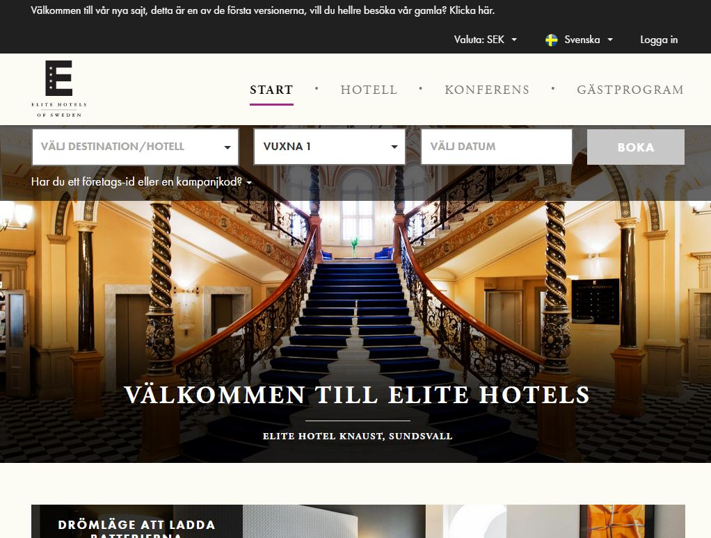 apegroup, Elite Hotels, Google Tag Manager, Star Republic E-handel system, Nyheter, Responsive Design / Mobilwebb