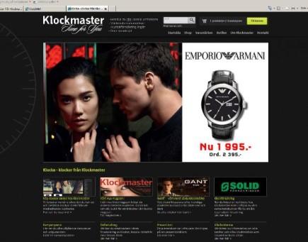 E-butik.se Flex, Klockmaster E-handel system