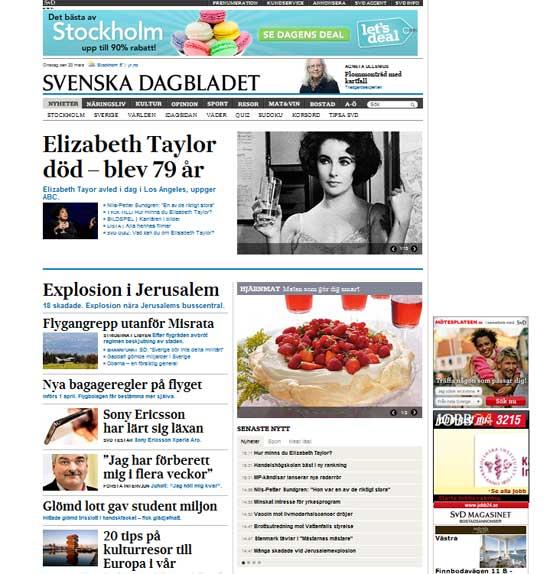 Escenic, mogul, svd.se, Svenska Dagbladet Escenic, Nyheter