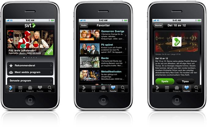 apple, iPhone app, svt play iPhone, Nyheter