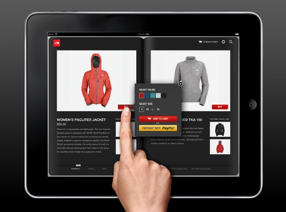 t-commerce ipad ecommerce shopping