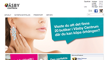Väsby Centrum, Web Express Content Tool 10 Nyheter, Övriga / Custom CMS