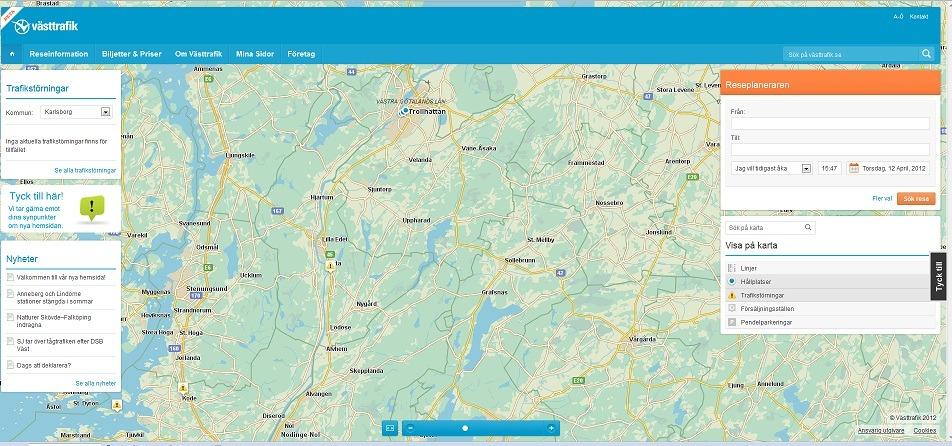 EPiServer 7.5, Single Page Application, Västtrafik Episerver, Nyheter, Offentlig sektor
