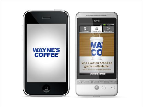 7-Eleven, Android, Daytona, Waynes Coffee Android, iPhone, Nyheter, Responsive Design / Mobilwebb
